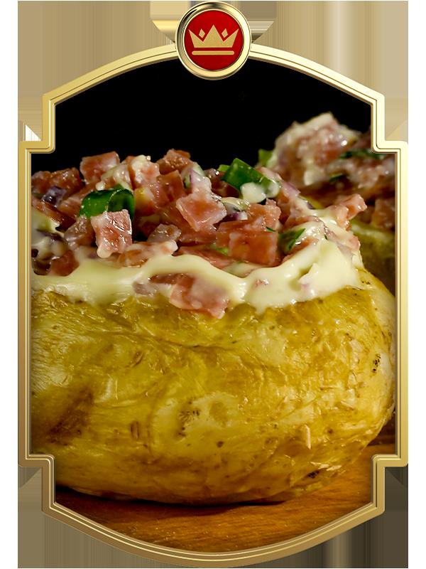 Batata Recheada com Salame Italiano Majestade
